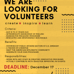Become an America House Volunteer!
