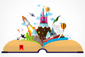 Story Book – Childhood Imagination Concept